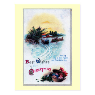 Best Wishes for Christmas 1911 Vintage Postcard
