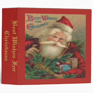 Best Wishes For Christmas 3 Ring Binders