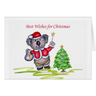 Best Wishes for Christmas Card