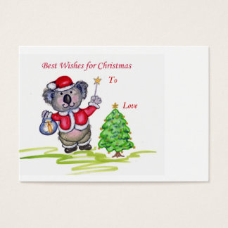 Best Wishes for Christmas Gift Tag. Business Card