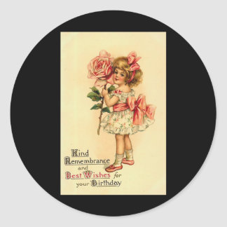 Best Wishes For Your Birthday Classic Round Sticker