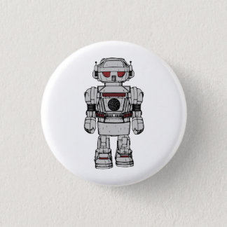 Best Wishes From Atomic Powered Toy Robot Pinback Button