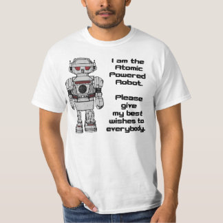 Best Wishes From Atomic Powered Toy Robot Tee Shirt