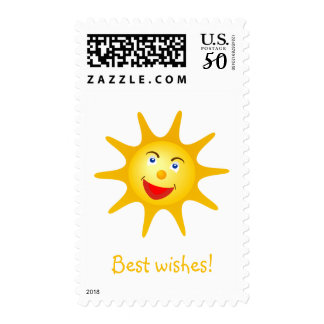 Best wishes from happy sun postage
