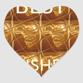 Best Wishes From Lovely Africa African Culture art Heart Sticker
