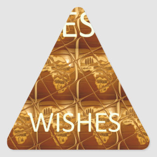 Best Wishes From Lovely Africa African Culture art Triangle Sticker