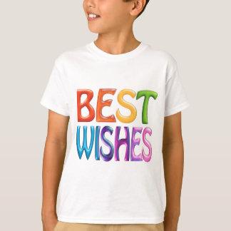 BEST WISHES fun 3d-like logo T-shirt