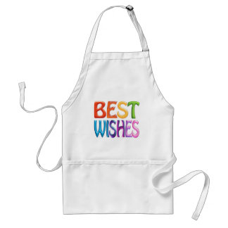 BEST WISHES fun colourful 3d-like logo Adult Apron