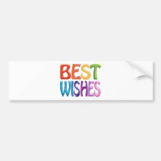 BEST WISHES fun colourful 3d-like logo Bumper Sticker