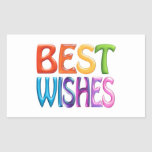 BEST WISHES fun colourful 3d-like logo Stickers