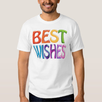 BEST WISHES fun colourful 3d-like logo T-shirt