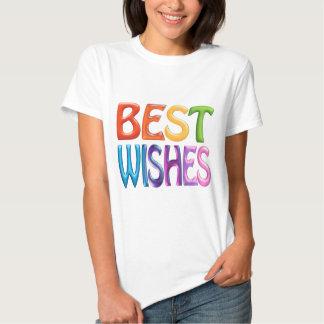 BEST WISHES fun colourful 3d-like logo Tee Shirt