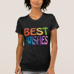 BEST WISHES fun colourful 3d-like logo Tshirt