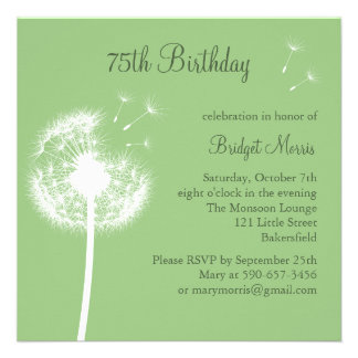 Best Wishes green Personalized Announcements