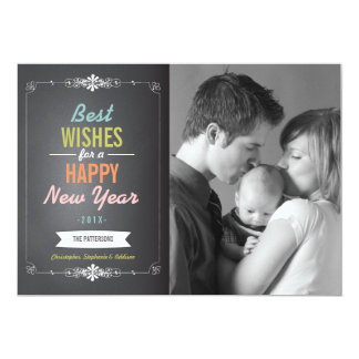 Best Wishes Happy New Year Photo Card