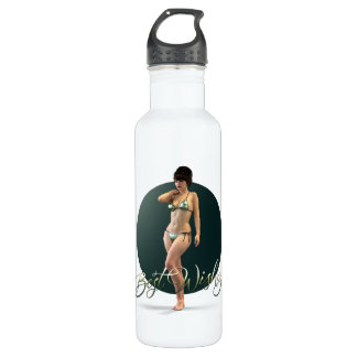 Best Wishes Olympia Stainless Steel Water Bottle