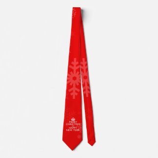 Best Wishes on Keep Calm Crown Red Neck Tie
