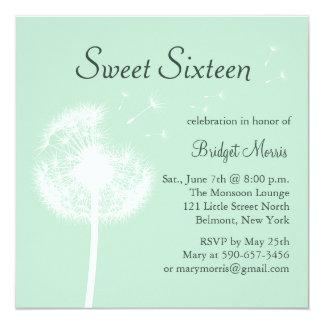 Best Wishes! on Mint Sweet Sixteen Invitation