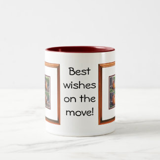 Best Wishes on the Move Two-Tone Coffee Mug
