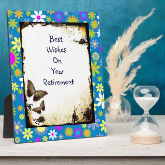 Best Wishes  retirementBeautiful Floral Art Plaques