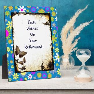 Best Wishes  retirementBeautiful Floral Art Plaque