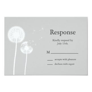 Best Wishes! RSVP (black) Card