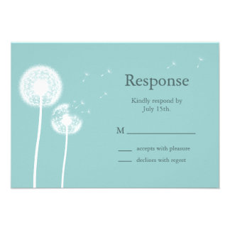 Best Wishes! RSVP (turquoise) Personalized Invitations