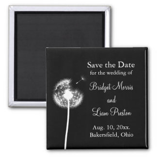 Best Wishes! Save the Date (black) Magnet