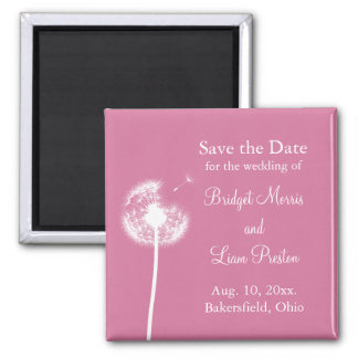 Best Wishes! Save the Date (fuchsia) Magnet