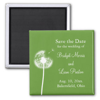 Best Wishes! Save the Date (green) Fridge Magnets