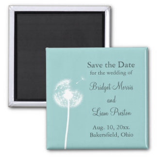 Best Wishes! Save the Date (turquoise) Magnet