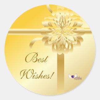 Best Wishes! Sticker-Customize Classic Round Sticker