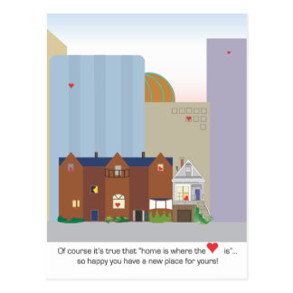 Best Wishes to New City Homeowner postcard