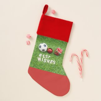 Best wishes to soccer christmas stocking