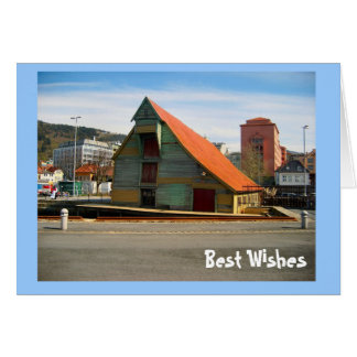 Best Wishes, TRaditional roof, Bergen Card