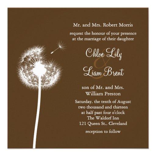 Best Wishes! Wedding Invitation (brown)