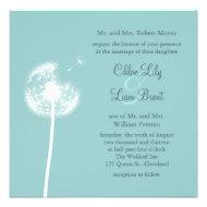 Best Wishes! Wedding Invitation (turquoise)