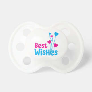 BEST WISHES with love heart balloons Pacifier