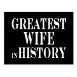 Best Wives : Greatest Wife in History Postcard