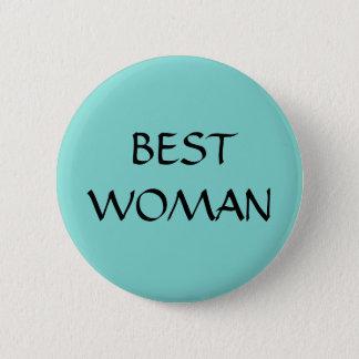 BEST WOMAN - button - wedding blue