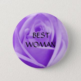 BEST WOMAN - lavender rose button