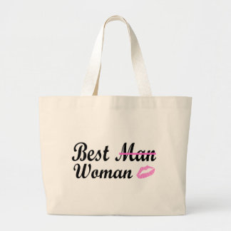 Best Woman (Lips) Large Tote Bag