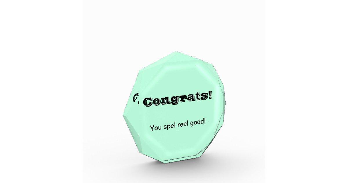 Student acrylic awards zazzle best worst speller award test urtaz Choice Image