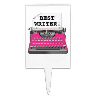 """""""BEST WRITER!"""" CAKE TOPPER"""