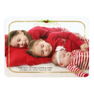 Best Year Ever Gold Frame Holiday Photo Card