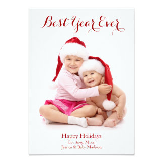Best Year Ever Holiday Photo Card
