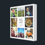 "Best Year Ever Instagram Photo Collage Canvas Print<br><div class=""desc"">Ideal for showing off your favorite Instagram shots,  this photo collage canvas features space for 8 square photos,  with &quot;Best Year Ever&quot; in the center in bold,  modern black lettering. Personalize with your name(s) and the year for a perfect way to commemorate a special year!</div>"