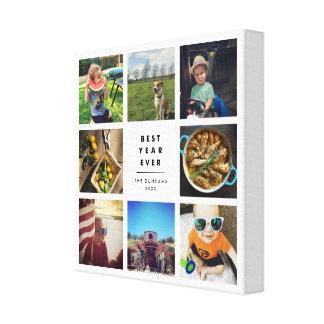 Best Year Ever Instagram Photo Collage Canvas Print