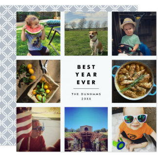 Best Year Ever | Square Photo Collage Card