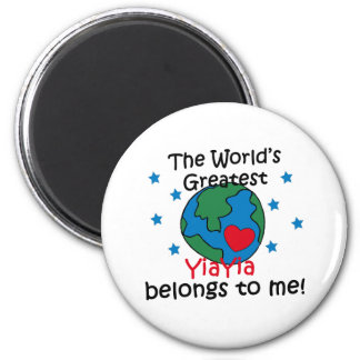 Best YiaYia Belongs to me 2 Inch Round Magnet